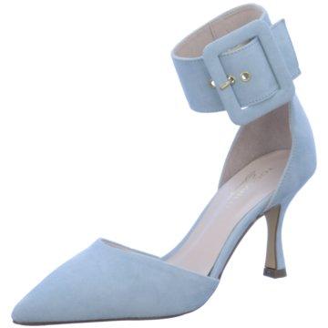 Tosca Blu Riemchenpumps blau
