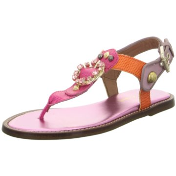 Alpe Woman Shoes Zehenstegsandale pink
