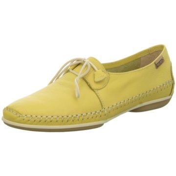 Pikolinos Komfort Schnürschuh gelb
