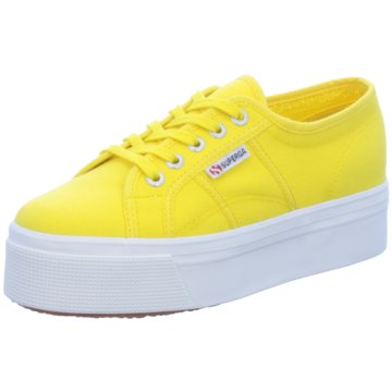 Superga Plateau Sneaker gelb