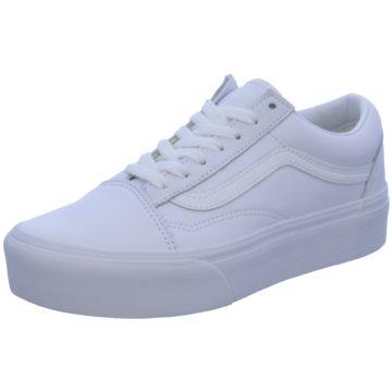 Vans Plateau Sneaker weiß