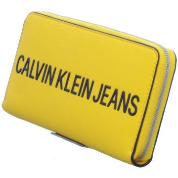Calvin Klein Geldbörse gelb