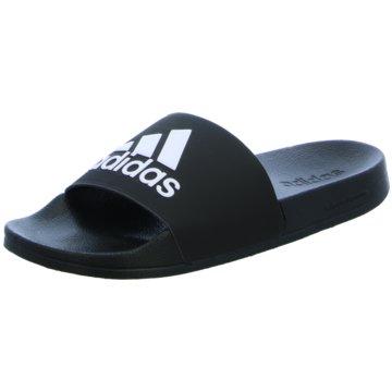 adidas Pantolette schwarz