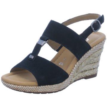 Gabor comfort Espadrilles Sandalen blau