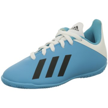adidas Hallen-SohleX 19.4 IN J - F35352 blau