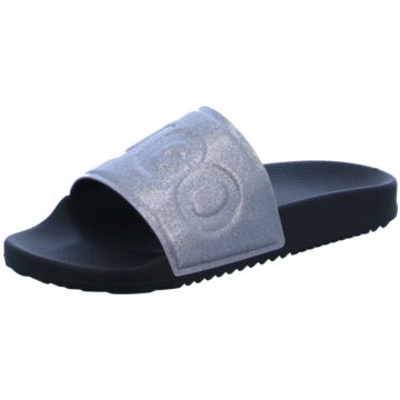 Hugo Boss Pool Slides silber