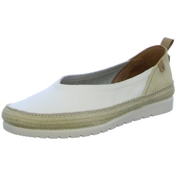 Verbenas Klassischer Slipper weiß