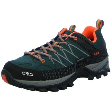 CMP Outdoor SchuhRIGEL LOW TREKKING SHOES WP - 3Q13247 grün