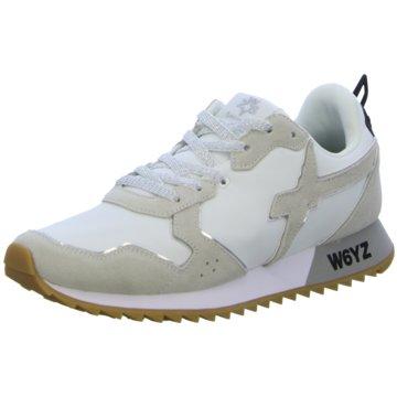 W6YZ Sportlicher Schnürschuh weiß