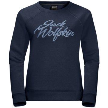 JACK WOLFSKIN PulloverWINTER LOGO SWEATSHIRT W - 1709211-1910 blau