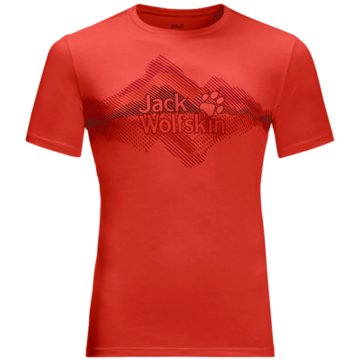 JACK WOLFSKIN T-ShirtsCROSSTRAIL GRAPHIC T M - 1807201 rot
