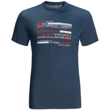JACK WOLFSKIN T-ShirtsESTABLISHED IN T M - 1807751 blau