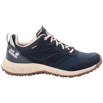 JACK WOLFSKIN Outdoor SchuhWOODLAND TEXAPORE LOW W - 4039241 blau