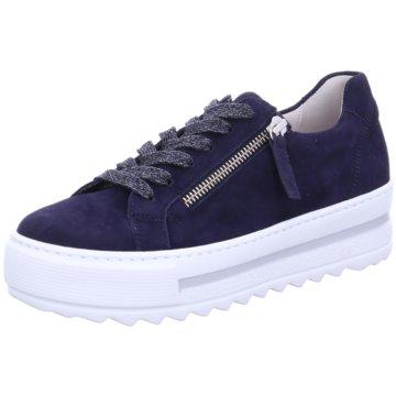 Gabor Plateau Sneaker blau