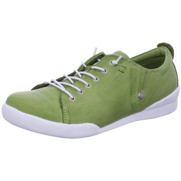 Andrea Conti Komfort Schnürschuh grün