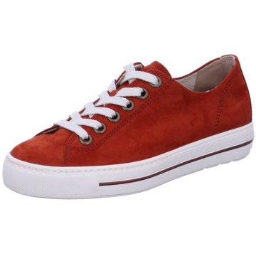 Paul Green Sportlicher Schnürschuh rot