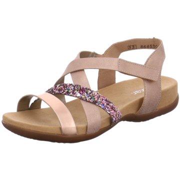 Rieker Offene Schuhe rosa