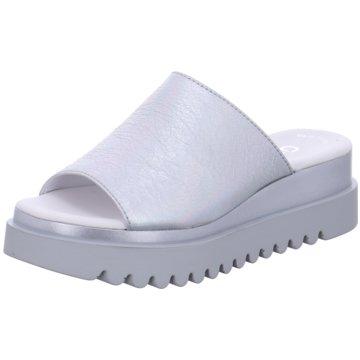 Gabor Plateau Pantolette weiß