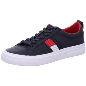 Tommy Hilfiger Sneaker LowFlag Detail Leather blau