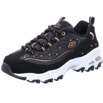 Skechers Plateau Sneaker schwarz