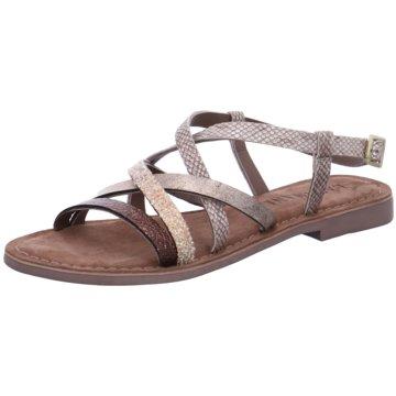 Rieker Sandale Silbergrau Naturweiß Damen Schuhe Sandalen