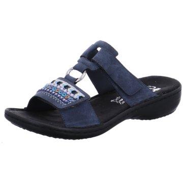 Rieker Komfort Pantolette608P614 blau