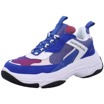 Calvin Klein Plateau Sneaker blau