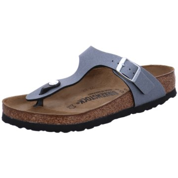 Birkenstock Summer FeelingsGizeh BF Icy Metallic Anthraci grau