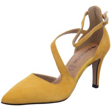 Tamaris Riemchenpumps gelb