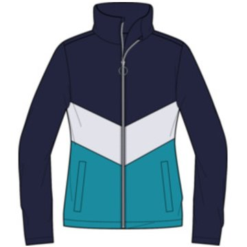 Killtec SweatjackenFIAMES GRLS FLEECE JCKT - 3483700 811 blau