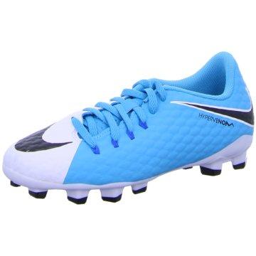 Nike FußballschuhJr Hypervenom Phelon III FG Kinder Fußballschuhe Nocken blau weiß blau