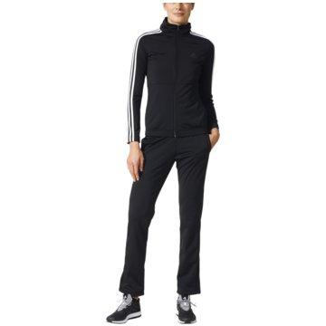 adidas TrainingsanzügeBack 2 Basics 3S Tracksuit Damen Trainingsanzug schwarz weiß schwarz
