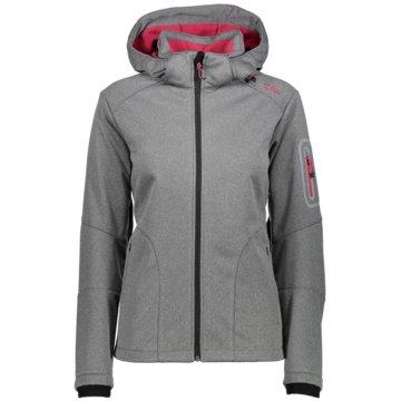 CMP SoftshelljackenZip Hood Jacket Damen Softshelljacke grau pink grau