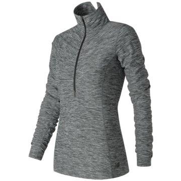 New Balance LangarmshirtIn Transit Half Zip Damen Laufshirt grau -