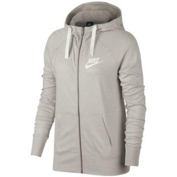 Nike SweatjackenGym Vintage Hoodie FZ Damen Kapuzenjacke Oatmeal grau