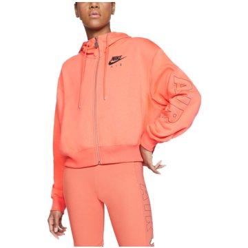 Nike SweatjackenAir Full Zip Fleece Hoodie orange