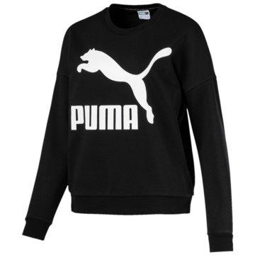 Puma SweaterClassics Logo Crew schwarz
