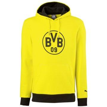Puma Teamwear & TrikotsätzeBorussia Dortmund Badge Hoody Kinder Kapuzenpullover BVB gelb gelb