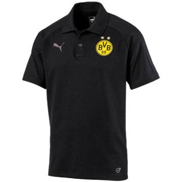 Puma PolosBorussia Dortmund Casual Pololoshirt BVB schwarz -