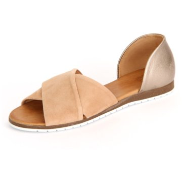 Apple of Eden Peeptoe Ballerina beige