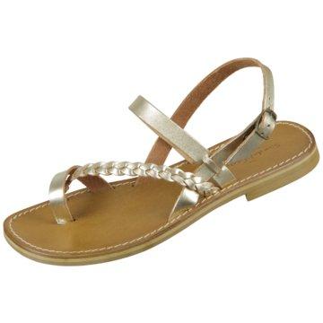 The Sandals Factory Zehenstegsandale gold
