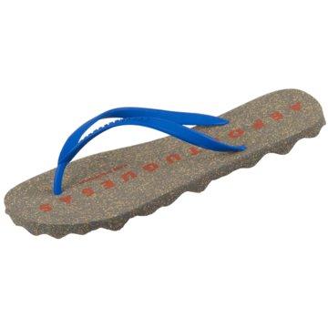 Asportuguesas Bade-Zehentrenner blau