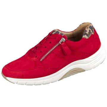Gabor Komfort Schnürschuh rot