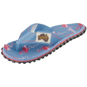 Gumbies Offene Schuhe blau