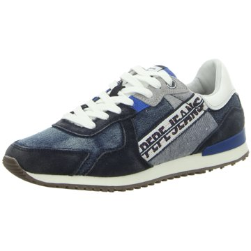 Pepe Jeans Sneaker LowTinker Denim Tape Ma blau