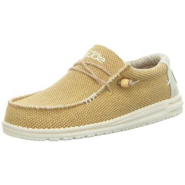 Hey Dude Shoes Mokassin SchnürschuhWally Braided gelb
