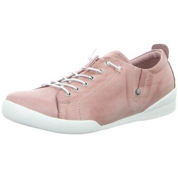 Andrea Conti Komfort Schnürschuh rosa