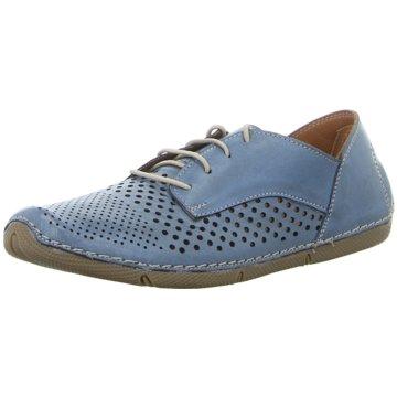 Manitu Komfort Schnürschuh blau