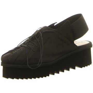 Papucei Komfort Schnürschuh schwarz