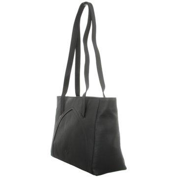 Voi Leather Design Taschen DamenShopper schwarz